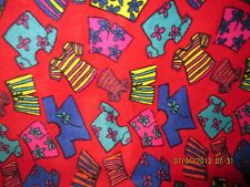 Polar Fleece Fabric, T-Shirts, Shorts on Red Background, 68 in.wide by 2 yards