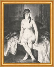 Evening, Nude on Bed George Wesley Bellows Nackte Frau Akt Bett Abend B A3 02054