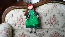 "Miniature Dollhouse Artisan Elaine Bohensky 1:24 1/2"" Scale School Girl Doll"