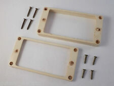 Relic Aged BONE WHITE HUMBUCKER SURROUNDS + Aged SCREWS for Gibson Les Paul