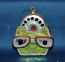 3-D STERIO VIEWER GLASS CHRISTMAS ORNAMENT LIME GREEN MUST SEE