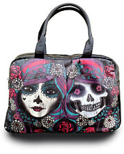 JAWBREAKER DAY OF DEAD TATTOO GOTHIC PUNK HANDBAG VEGAN LEATHER SKULL PURSE BAG