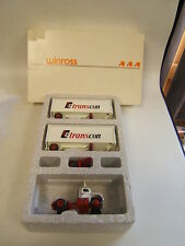 Winross TC Transcon White 9000 Double Trailers Very Good Condition w/ Box 1985