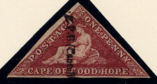 Cape of Good Hope: Scott #12, Brown Red, Used, interesting SL handstamp cancel