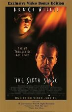 The Sixth Sense Original Video Release Poster 26x40 NEW 2000 Bruce Willis