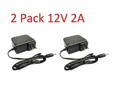 2 Pack 12V 2000mA 12 Volt DC 2 Amp Surveillance Camera Power Supply For Lorex