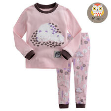 "Vaenait Baby Toddler Kids Clothes Sleepwear Pajama Set ""Hug Pink"" M(3T)"