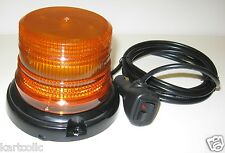 TOP WARNING LED BEACON - AMBER - MAGNETIC MT. - CLEARANCE ITEM