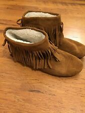 Next Tan Fringe Suede Ankle Boots Size 7