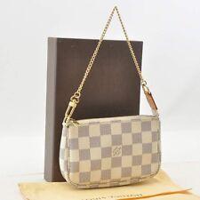 Authentic  Louis Vuitton Damier Azur Mini Pochette Accessoires N58010 #S4570 E