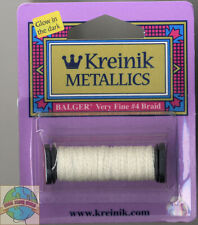 Kreinik Metallic Thread - 12 Yard Spool of #052F Grapefruit Very Fine #4 Braid