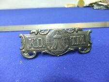 vtg badge pin kotm knights of the maccabees fraternity benevolent society 1900s
