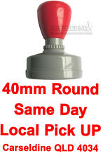 40mm Round Custom Business Logo Text Flash Stamp Pre & Self Inking Refillable