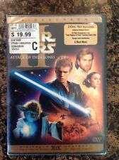 Star Wars Episode II: Attack of the Clones (DVD,2002,2-Disc,WS)NEW Authentic US