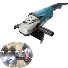 Makita GA9020 9in/230mm Angle Grinder 240V With 2 Diamond Blades