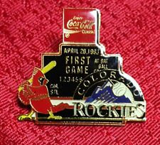 St Louis Cardinals Colorado Rockies 1st Game April 20,1993 Pin Coca Cola Sponsor