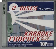 Karaoke CD+G - Guy Pop Vol. 1 - New 37 Song, 2 CD Set! (Top Tunes Karaoke!)