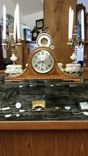 Sessions Two Train Westminster Chime Walnut Mantel Clock