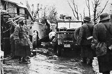 WW2 - Belgique - Ardennes 1944 - Jeep US captureée par les allemands