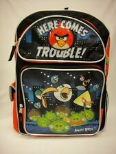 """ANGRY BIRDS - HERE COMES TROUBLES - 12"""" inches Toddler Backpack - NEW - Licensed"""