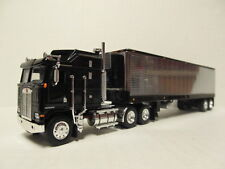 DCP 1/64 SCALE KENWORTH K-100 BLACK WITH BLACK & CHROME REEFER TRAILER