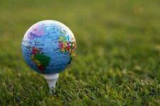 Globe Golf Ball 3 Pack Novelty World Map Golf Balls UK Seller