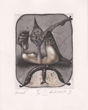Exlibris from Edward Penkov from Bulgaria - Eos II - erotic