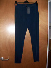 BNWT Jane Norman Sexy Navy Blue Shiny Disco Pants Disco leggings