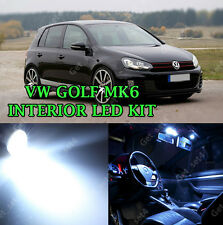 VW Golf MK6 TDI Tsi Interior 2008-2014 Kit Xenon Blanco Bombillas LED CANBUS