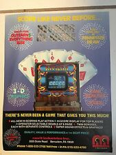 """RIVIERA "" BY MERIT 1984 VIDEO POKER  PROMO BROCHURE IN PLASTIC COVER"