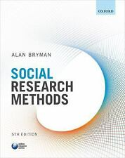 Social Research Methods by Alan Bryman (2016, Paperback)