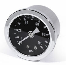 Oil Pressure Gauge black -100 PSI 6 Bar Motorcycle Car Performance