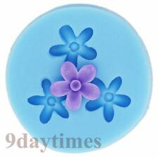 Mini Flower Silicone Mold Mould For Resin Crafts Polymer Clay Fimo 16mm A236