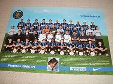 CARTOLINA CALCIO UFFICIALE SQUADRA INTERNAZIONALE INTER F.C.  2000/2001