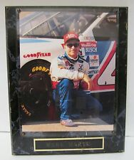 """MARK MARTIN VTG NASCAR DISTRESSD GOODYEAR WALL HANGING PICTURE PLAQUE-13""""X10.5"""""""