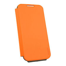 FENICE Classico Flip Samsung Galaxy S4 Premium Italian PU Leather Case - Orange