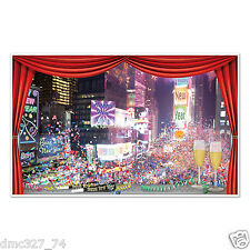 NEW YEAR'S EVE Party Decoration Wall Window Mural Prop NEW YORK TIMES SQUARE