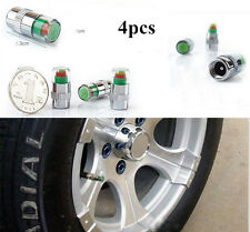 4PCS Car Auto Tire Pressure Monitor Valve Stem Caps Sensor Indicator Alert BY