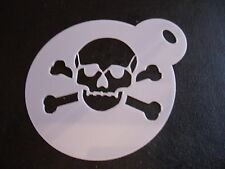 Laser cut small skull & crossbones cake, cookie, craft & face painting stencil