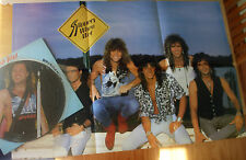 BON JOVI SLIPPERY WHEN WET VINYL LP PICTURE PIC DISC + POSTER