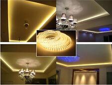 5M Warm White 110V 120V 5050SMD Flexible Flat LED Strip Rope Light+US Power lamp