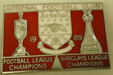 ARSENAL FOOTBALL CLUB - FOOTBALL LEAGUE CHAMPIONS 1989 Enamel Pin Badge