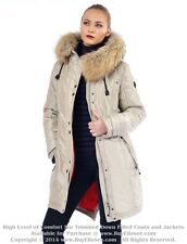 ~ Womens Parka Puffer Coat Jkt Пуховик w/ Raccoon Fur sz XL / US 12 EU 44  $645