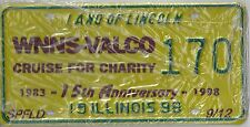 ILLINOIS SPEC. EVENT LICENSE PLATE  1998 WNNS-VALCO Cruise fr Charity 15th ANN..