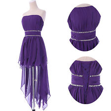 High Low~Prom Evening Party Formal PURPLE SIZE 18 Ball Dresses Bridesmaids Gowns