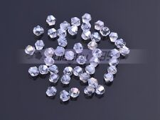 Wholesale 3mm/4mm/6mm/8mm Bicone Faceted 5301# Crystal Glass Loose Spacer Beads