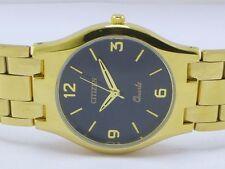 Reloj De Cuarzo Original Para Hombre Citizen Chapado en Oro Resistente al Agua