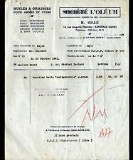 """ASNIERES-sur-SEINE (92) HUILE & GRAISSE pour ARMES ,CUIRS """"OLEUM / R MILLE"""" 1961"""