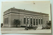 RPPC POSTCARD OLD PICKUP TRUCKS FRONT OF POST OFFICE DOUGLAS ARIZONA REAL PHOTO