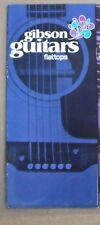 Gibson guitars brochure flatops.   1970 ( dk blue) original